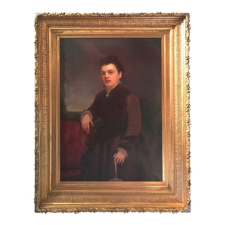 William F. Cogswell, Victorian Portrait of a Lady Dated 1877 For Sale