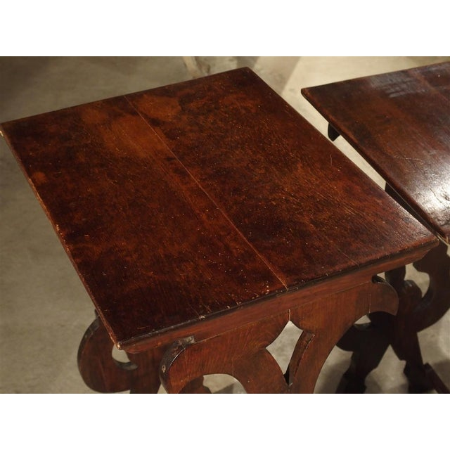 Pair of Antique Italian Nesting Tables, C. 1900 For Sale - Image 12 of 13