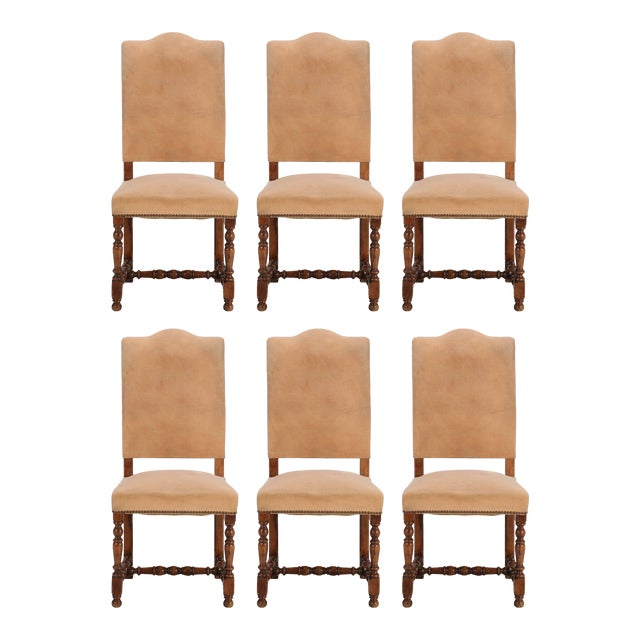 Antique French Dining Side Chairs - Set of 6 For Sale