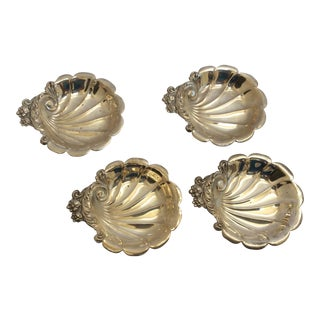 Sterling Silver Butter Pat Dishes - Set of 4 For Sale