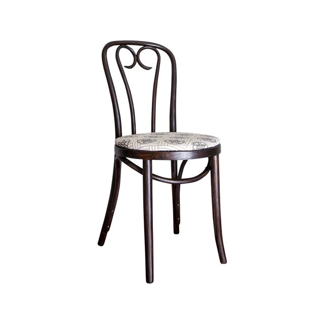 Early 20th Century Candy Cane Bentwood Cafe Chair For Sale