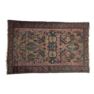 "Antique Lilihan Rug - 2'7"" X 4' For Sale"