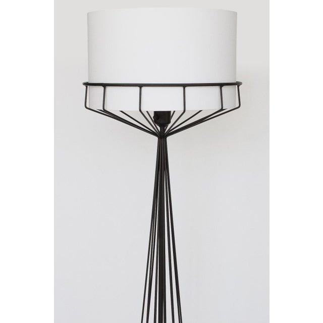 Tony paul black iron wire frame floor lamp chairish tony paul black iron wire frame floor lamp image 3 of 10 greentooth Image collections