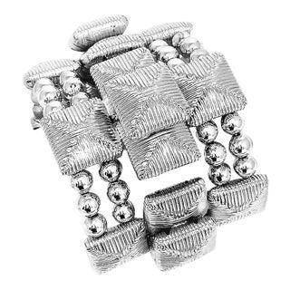 Massive William DeLillo Cuff Bracelet For Sale