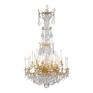 Twenty-Four-Light Baccarat Crystal Chandelier