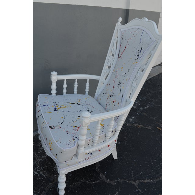 Vintage Mid-Century Hollywood Regency Style Chair For Sale - Image 11 of 13