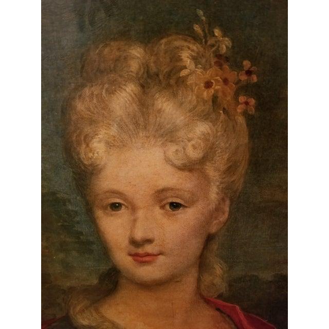 Victorian Victorian Lady Matted Red Velvet Framed Portrait Print For Sale - Image 3 of 7
