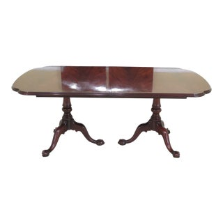 Henkel Harris Flame Mahogany Claw Foot Dining Room Table For Sale