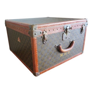 1940s Vintage Louis Vuitton French Monogram Travel Case