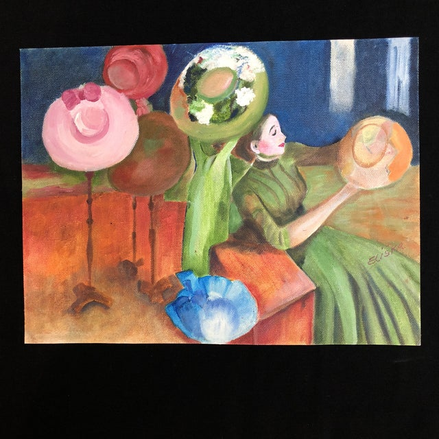 "Lisa Burris Hand Painted Copy of ""The Millinery Shop"" by Edward Degas For Sale - Image 10 of 10"