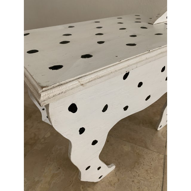 Wood 1970s Dalmatian Dog Wooden Table - Handmade For Sale - Image 7 of 13
