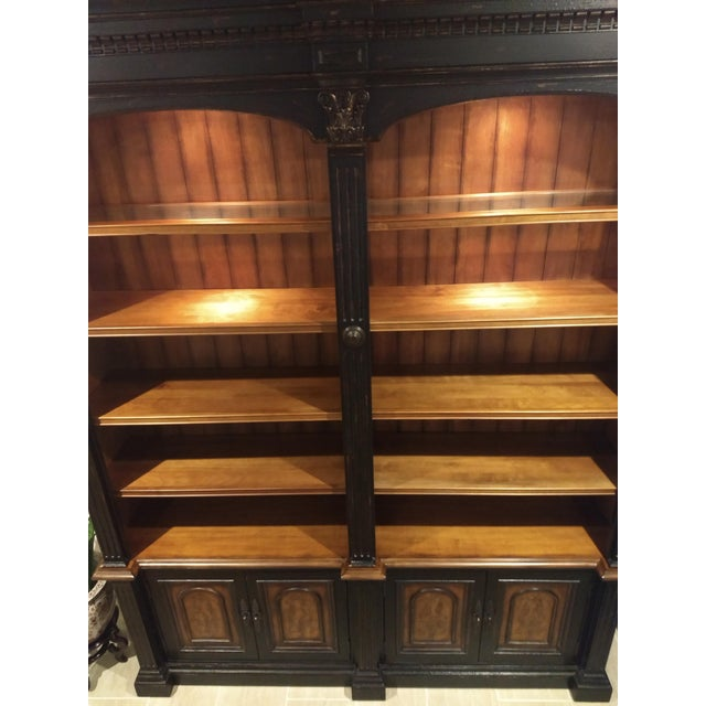 Gothic Library Cabinet - a Beautiful and Diverse Piece for Your Home or Office: Hooker Furniture Double Credenza & Double Bookcase (2 Pieces) For Sale - Image 3 of 13