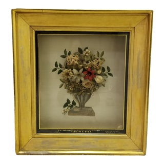 Early 19th C Memorial Shadow Box For Sale