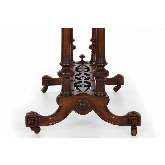 Early Victorian Figured Walnut Antique Games and Work Table, Circa 1860-80 For Sale - Image 6 of 13
