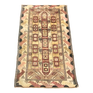Traditional Aztec Turkish Handmade Decorative Wool Rug For Sale