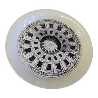 1954 Piero Fornasetti II Cortile Tole Tray For Sale