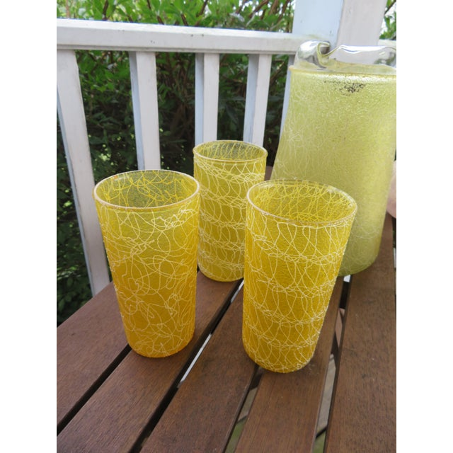 Mid-Century Color Craft Spaghetti String Rubberized Drink Set - 8 Piece For Sale - Image 4 of 7