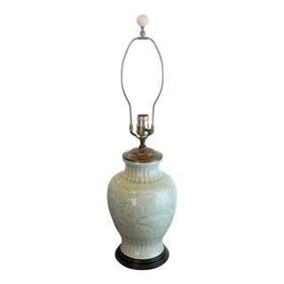 Mid 20th Century Chinese Celadon Lamp For Sale