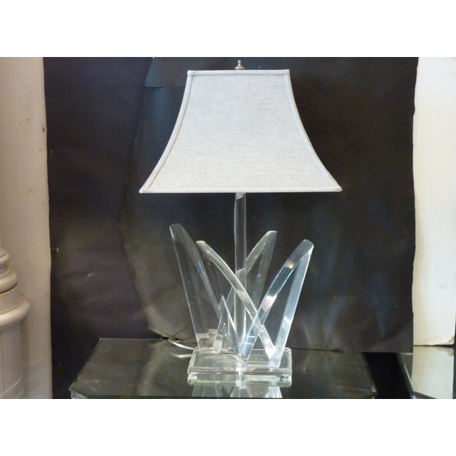 Hivo Van Teal Van Teal Acrylic Lamp For Sale - Image 4 of 4