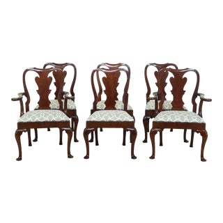 Set of 6 Kindel National Trust Collection Mahogany Dining Room Chairs For Sale