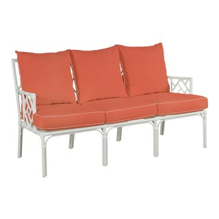 Haven Outdoor Sofa, Melon and Blush For Sale