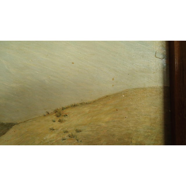 1952 Aaron Pyle Landscape With Horses Regionalist Painting For Sale - Image 10 of 11
