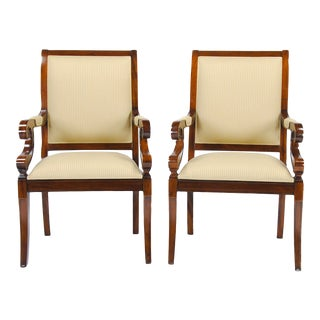 Regency Upholstered Dining Chairs- A Pair For Sale