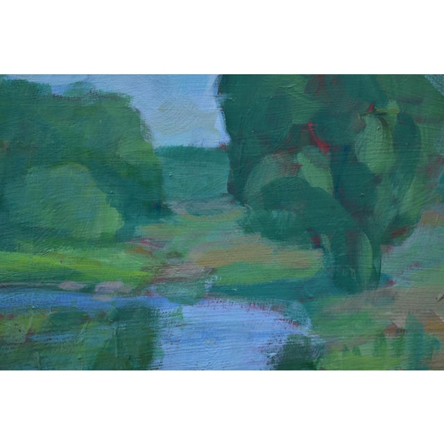 "Stephen Remick Stephen Remick ""The Frog Pond"" Contemporary Plein Air Painting For Sale - Image 4 of 9"