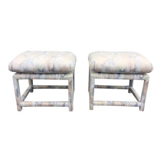 Mid Century Vintage Milo Baughman Style Hollywood Regency Parson's Benches- A Pair For Sale