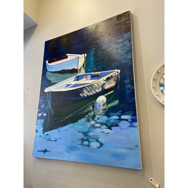 Contemporary Contemporary Nautical Oil Painting by Andrea Guay For Sale - Image 3 of 7