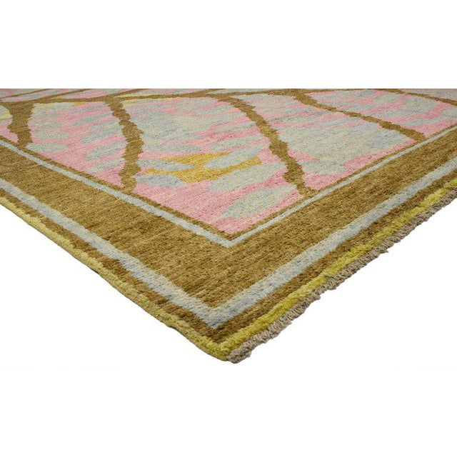 Contemporary Contemporary Moroccan Area Rug with Tree and Leaves For Sale - Image 3 of 4