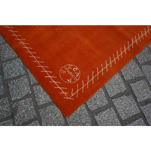 Boccara Exclusive Limited Edition Artistic Wool Rug, Hermès For Sale - Image 6 of 8