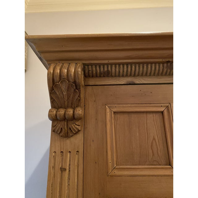 19th Century Vintage Belgian Pine Armoire For Sale - Image 9 of 12