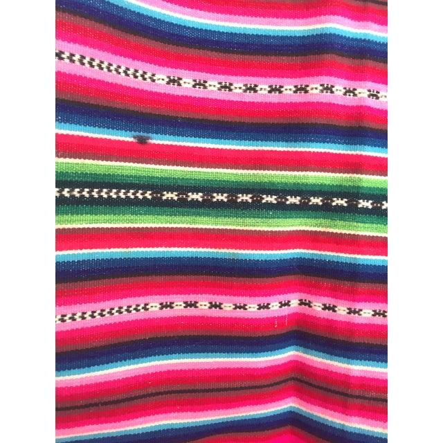 Vintage Bolivian Handwoven Blanket - Image 7 of 7