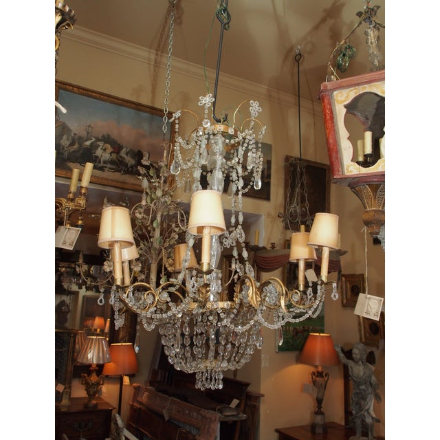 19th Century French Crystal Chandelier For Sale - Image 10 of 11