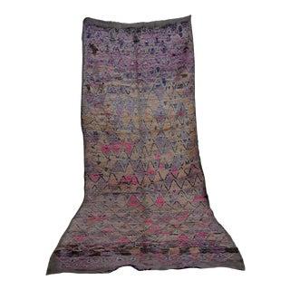 "Beni M'guild, Vintage Moroccan Rug, 5'3"" X 14'5"" Feet For Sale"