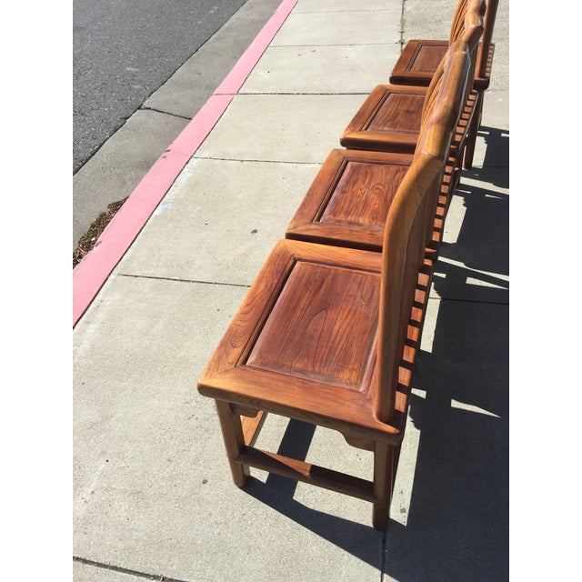 Antique Asian Tea Table Chairs - Set of 4 For Sale - Image 5 of 12