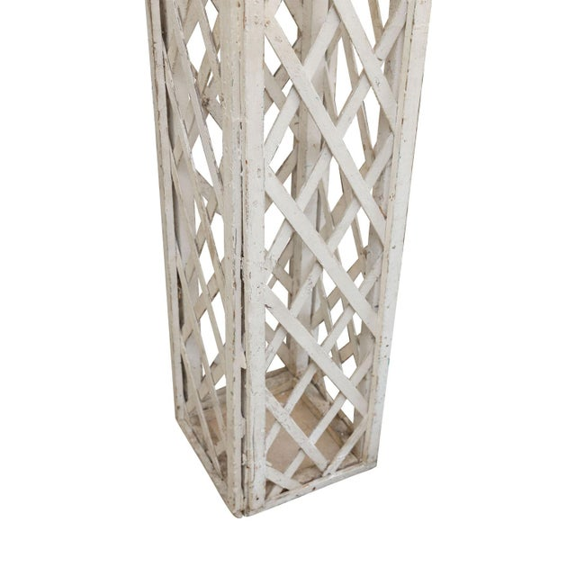 Vintage French Painted Trellis For Sale - Image 12 of 13