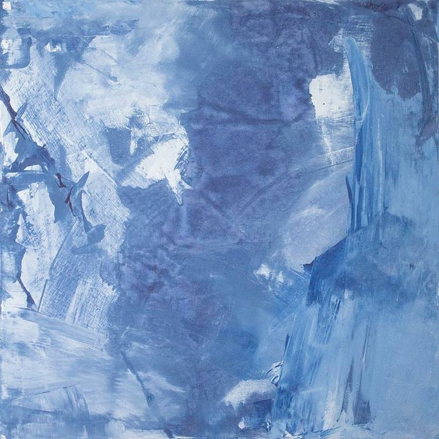 Abstract Julia Contacessi, Indigo Child Painting, 2016 For Sale - Image 3 of 3