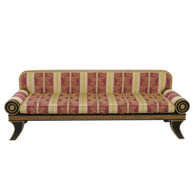 Regency-Style Ebonized & Gilt Fainting Sofa - Image 1 of 5