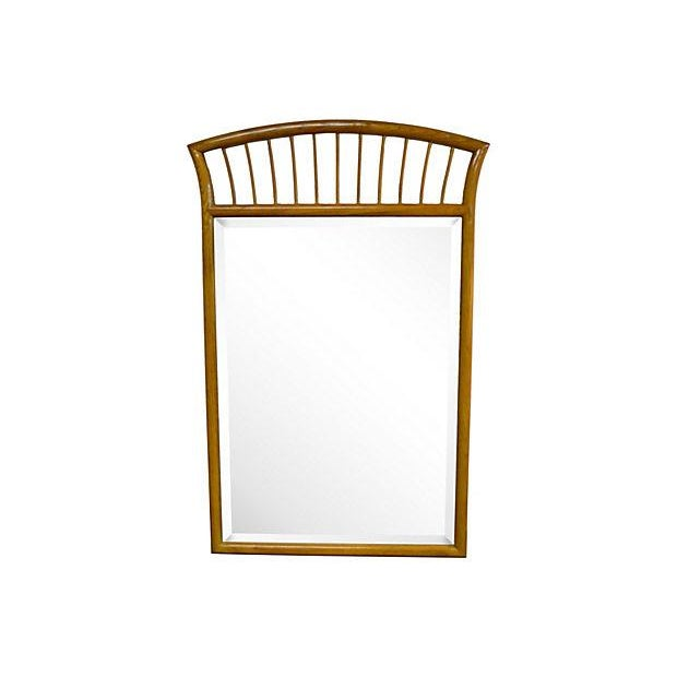 Mid 20th Century Oak Frame Mirror For Sale - Image 5 of 7