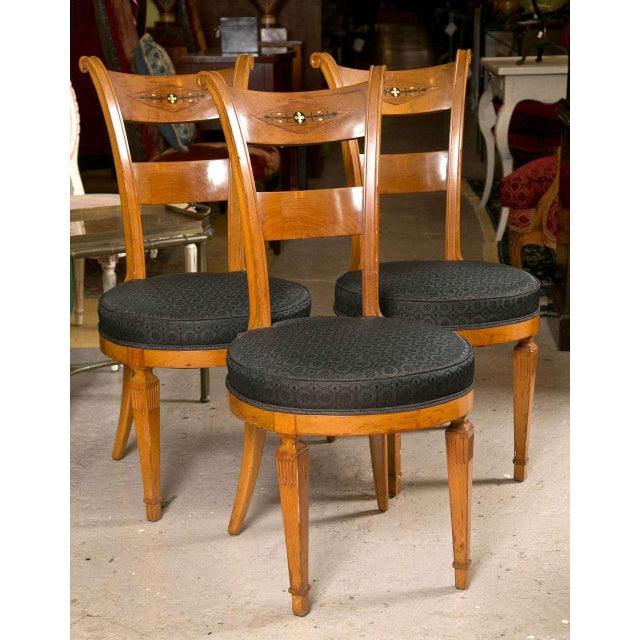 Set Six Biedermeier Style Side Chairs Dining Chairs With Ebony Inlay Can Buy One - Image 2 of 9