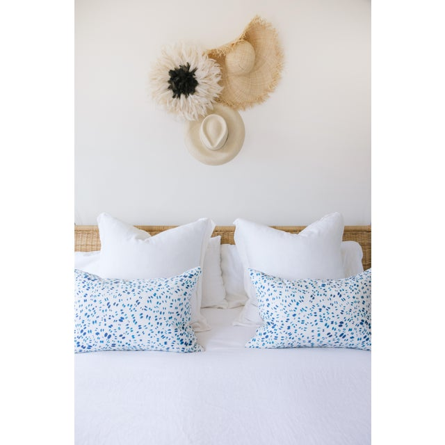"Scattered Indigo Petals Linen Pillow - 10"" X 22"" - Image 6 of 7"