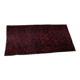 "Antique Arak Wool Area Rug - 3'5"" x 6'8"" For Sale"