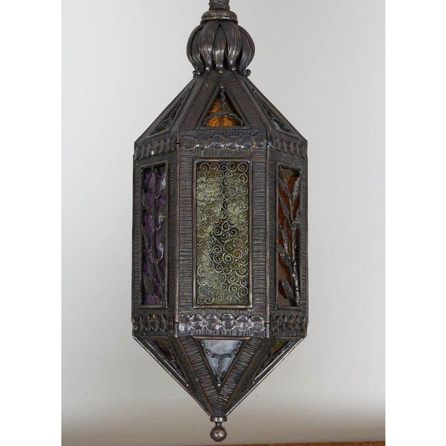 Paul Kiss Kiss Wrought Iron Lantern For Sale - Image 4 of 9