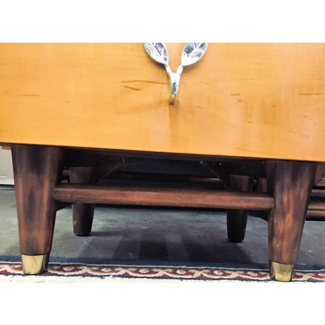 Mid-Century Modern Huntley Blonde Nightstand For Sale - Image 9 of 10