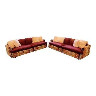 Mid Century Modern Pair Erwin Lambeth Lenor Larsen Sofas For Sale