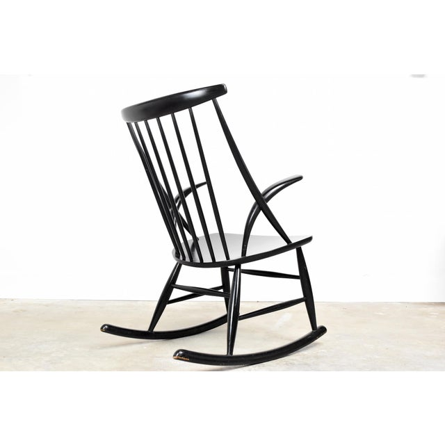 Contemporary Mid-Century Rocking Chair by Illum Wikkelso For Sale - Image 3 of 13