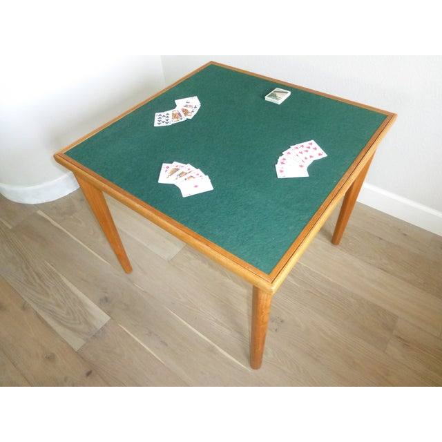 Mid Century Danish Modern Brdr Furbo Denmark Square Teak Game Table For Sale - Image 9 of 12