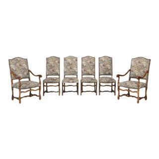 French Os De Mouton Dining Chairs - Set of 6 For Sale